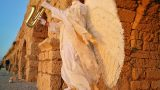 פסל חי מלאך גן עדן